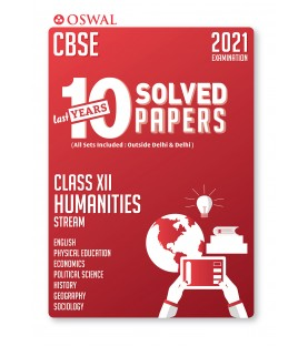 Oswal CBSE 10 Last Years Solved Papers -Humanities Stream Class 12 for 2021 Exam