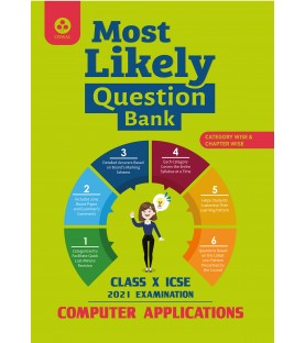 Oswal Most Likely Question Bank for Computer application ICSE Class 10 2020-21