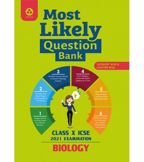 Oswal Most Likely Question Bank for Chemistry  ICSE Class 10 2020-21