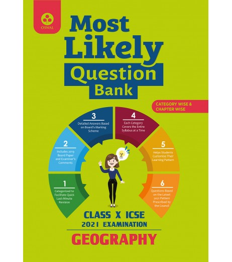 Oswal Most Likely Question Bank for Geography ICSE Class 10 2020-21