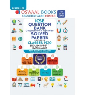Oswaal ICSE Question Bank Class 10 English Paper-1 Language Chapterwise & Topicwise (For March 2021 Exam)