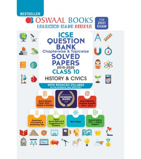 Oswaal ICSE Question Bank Class 10 History and Civics Chapterwise and Topicwise (For March 2021 Exam)