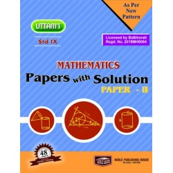 Uttams Paper with Solution Std 9 Mathematics Part 2